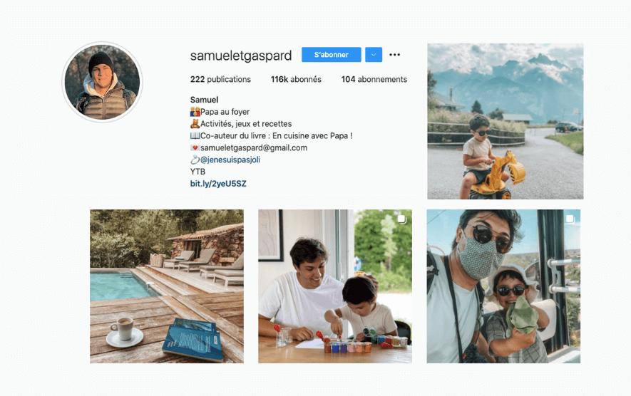 Instagram feed Samuleetgaspard