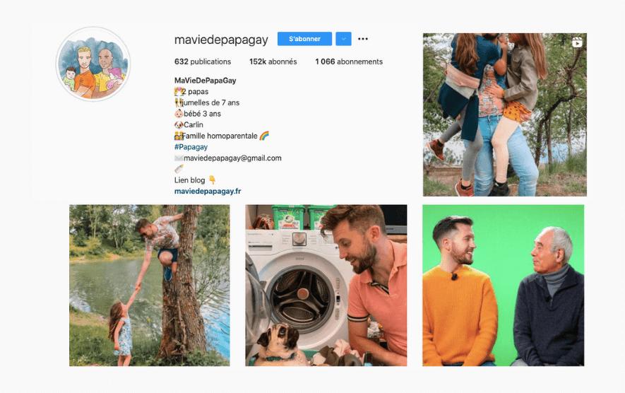 instagram compte Ma vie de papa gay